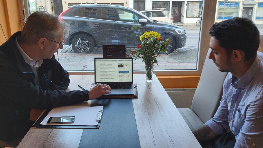 Digital-Lotse und Klient